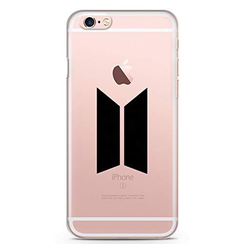 ZOKKO Coque iPhone 6S Plus BTS - Souple Transparente Encre Noir