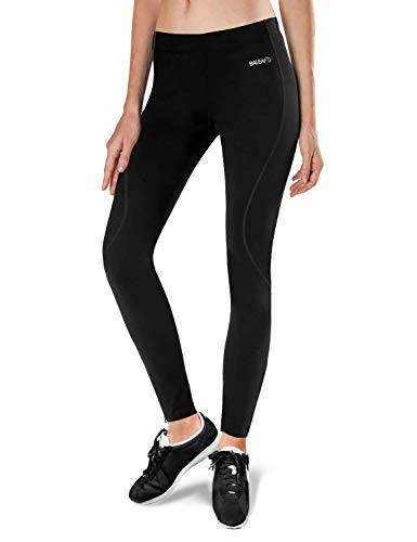 BALEAF Women's Thermal Fleece Running Cycling Tights Black Size S