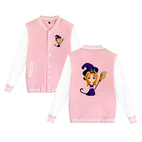 Witch Png Cute Mens Ms Cool Custom Made Baseball Uniform Sport Coat Sweatshirt Pink