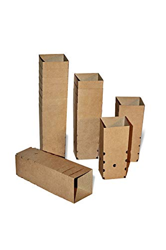Plantho – Semilleros biodegradables de Papel Reciclado, sin trasplantar, orgánicos y ecológicos. Pack 80 macetas para Flores, Plantas y esquejes. (80)