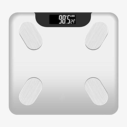 LQH Libra Escala exacta de Grasa Corporal Cargando la pequeña Escala de pesaje electrónico del Cuerpo Pesar la Grasa Corporal Femenina Compacto Libra
