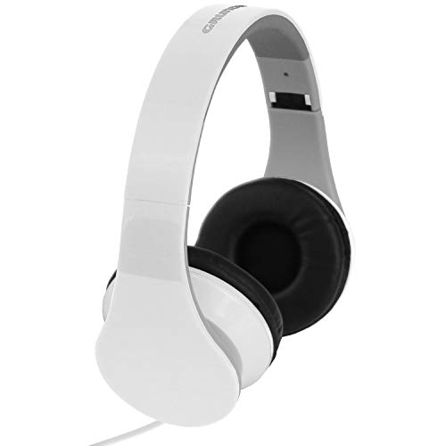 Stereohoofdtelefoon, 20Hz-20.000Hz, verstelbare hoofdband, opvouwbaar, stereohoofdtelefoon wit voor MP3 CD iPOD-speler