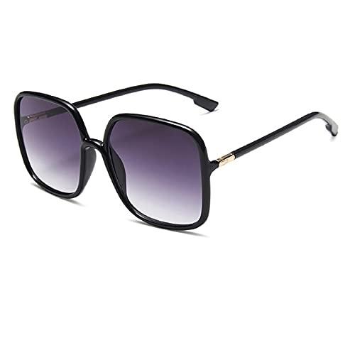 NBJSL Gafas de sol de diseño de moda Gafas cuadradas para mujer Gafas de lujo de gran tamaño para mujer (caja de embalaje exquisita)