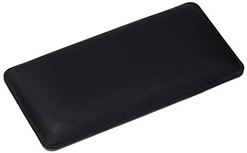"""The Gamer Plug - Gaming Mouse Wrist Rest Pad - Black - Stitched Edges - Memory Foam - 8"""" x 4"""" x 0.9"""" (Mouse, Thick)"""