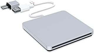 External CD DVD Drive, VersionTECH. USB C Type-c Ultra Slim Portable CD DVD RW DVD CD ROM Burner Writer Superdrive with High Speed Data Transfer Compatible with Mac MacBook Pro Air iMac Laptop