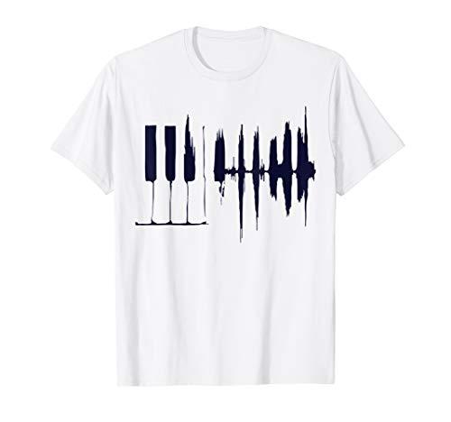 Hände auf Klavier Tastatur Geschenk für Musik Lehrer Piano T-Shirt
