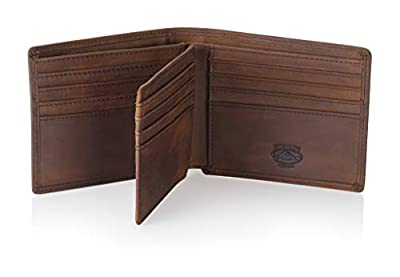 Stealth Mode Leather Bifold Wallet for Men With ID Window and RFID Blocking (Brown)