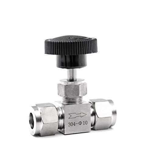 """Nadelkugelventil Einstellbare Nadelventil O.D. 3 4 6 8 10 12 mm 3/8\"""" 1/2 \'\' Zoll-Rohr Küche Shutoff Compression Schalter Fifing 304 Saurer Set Kran für Wasser, Öl & Gas ( Specification : 12.7mm OD )"""