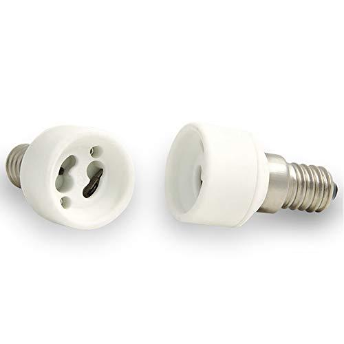 2x Lampensockel Adapter Konverter E14 Fassung auf GU10 Sockel Lampenadapter