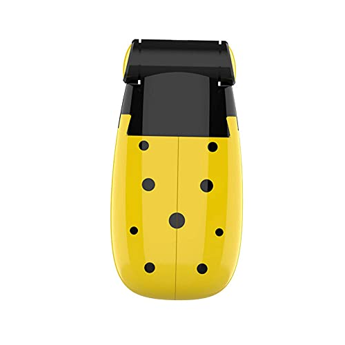 KYEEY Mini Ventilador Mini Ventilador Multifunción Mini Fan 400mAh USB Pollo De Mano Recargable Ventilador Adecuado para Viajes Al Aire Libre (Size:One Size; Color:Yellow)