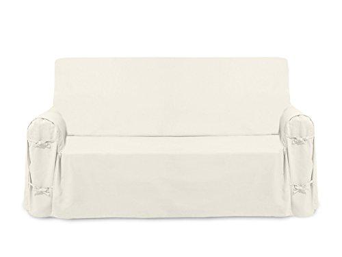 Soleil d'ocre Funda de sofá de algodón Panama Crudo