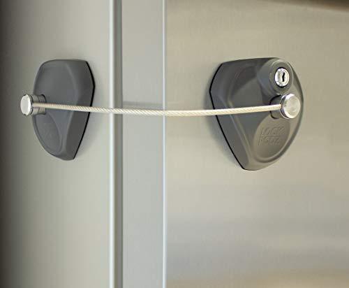 LOCK PODZ Refrigerator Lock, Freezer Lock, Cabinet Lock, Child Safety Lock, Mini Fridge Lock, Fridge Lock with Keys, Fridge Lock for Adults, Lock for Dorm Fridge, Color Silver