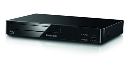 Panasonic DMP-BD84EG-K Reproductor Blu-Ray Full HD (Unidad Compacta, HDMI, Sensación Home Cinema, Internet Apps, Contenido Digital, Puerto LAN, USB, FLAC, CD, DVD, CD-R, MP4, MP3, JPEG)-Color Negro
