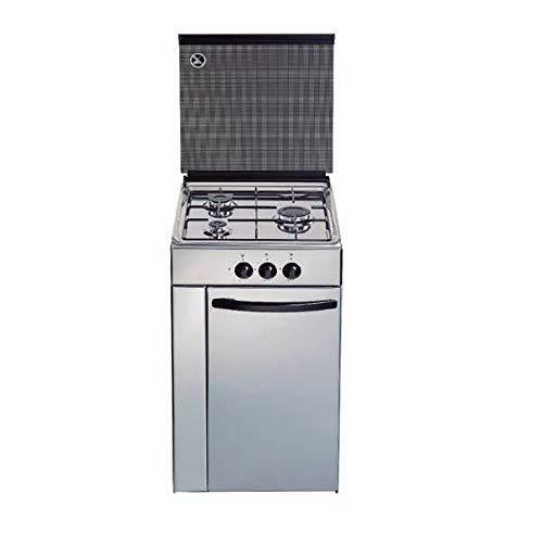 Cocina de gas butano/natural HVG CPI, 3 quemadores, acabado Inox