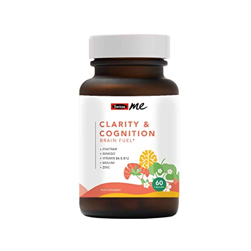 Swisse Me Clarity and Cognition Capsules, Vegan Zinc Tablets, Brain Supplements with Added Vitamins, Gluten Free Supplements to Support Cognitive Health, Includes 60 Capsules
