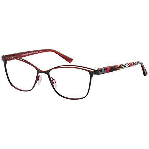 Change Me Brille 2516-1 mit Wechselbügel 8748-3 rot schwarz