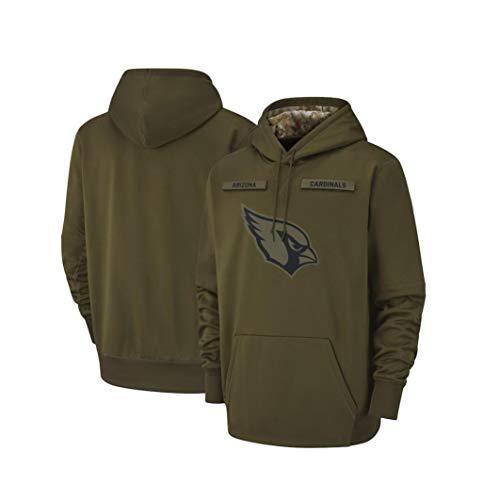 Wo nice Herren Pullover - NFL Arizona Cardinals Hoodie, Kapuzenpullover Pullover Sport Langarm-Sweatshirt Fußball-Jacken,L(170~175CM)