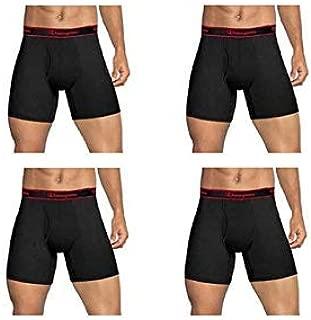 Champion Mens Elite SmartTemp Vapor Tech- Boxer Briefs, Black, 4-Pack (Large)