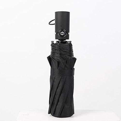 FYMDHB886 Volledig automatische zakelijke paraplu 10 bot drievoudige zwarte plastic zakelijke paraplu Verhogen vouwparaplu, Size, A