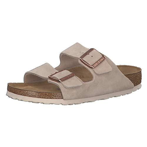 Birkenstock Arizona SFB Womens Suede Leather Sandal in Nude (US 8, Nude)
