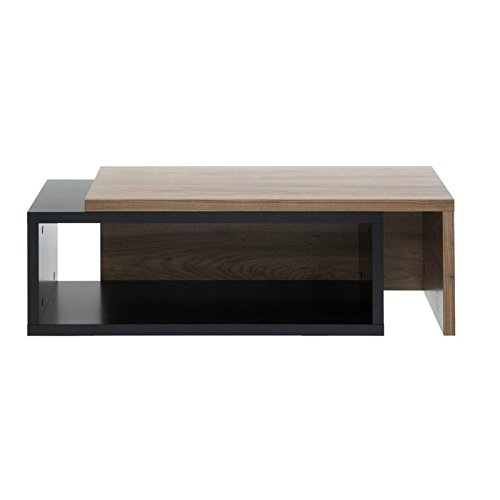 Paris Prix - Temahome - Table Basse 90cm Jazz Noir & Noyer
