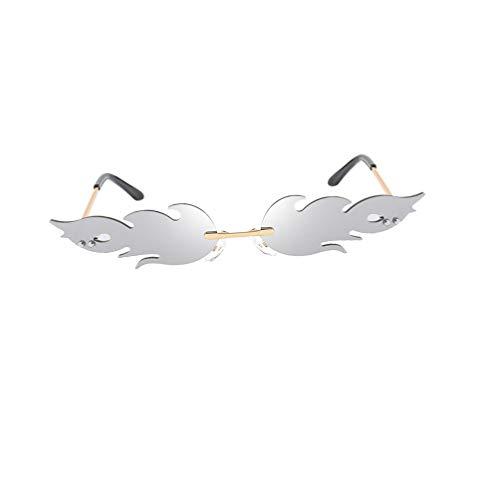 STOBOK Gafas de sol de llama de fuego novedosas sin montura en forma de fuego, gafas de sol para mujeres y hombres, color