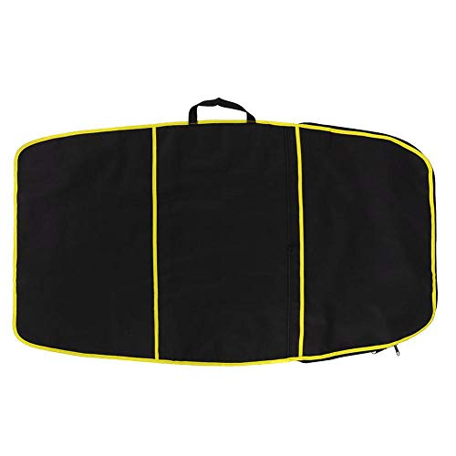 Vobor 3 Farben Langlebige Surfbrett Tasche Bodyboard Tasche Abdeckung Polyester Tragetasche Surfzubehör(gelber Streifen)