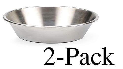 RSVP 6' Round Mini Pie Pan Endurance 18/8 Stainless Steel Bakeware (2-Pack)