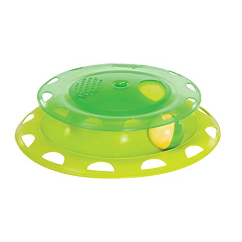 Petstages Catnip Chase Track Green Interactive Cat Toy