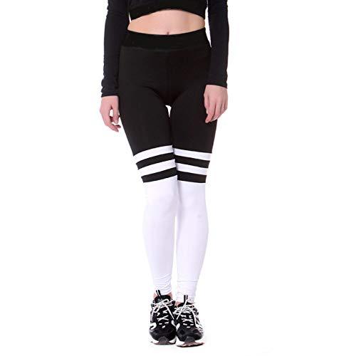 Yoga Pantalonespantalones De Yoga Leggings De Mujer Sport Rayas Blancas Y Negras...
