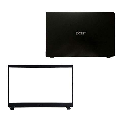 YUHUAI Bisel frontal LCD de repuesto para ordenador portátil Acer Aspire 3 A315-42 A315-42G A315-54 A315-54K N19C1 y carcasa trasera de la parte superior (negro)