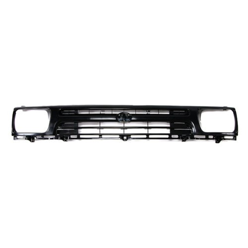 CarPartsDepot, Pickup Mini 2Wd Front Raw Black Grill Grille w/Lamp Door For 1PC Type Assembly, 400-44307?TO1200127 5311135080
