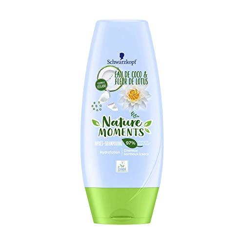 Nature Moments - Après-Shampooing - Hydratation - Cheveux Normaux à Secs Coco & Lotus 200 ml