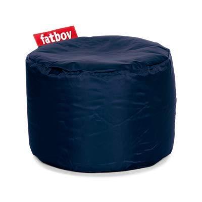 Fatboy® Point Hocker Nylon Blue | Runder Sitzhocker in Blau | Trendiger Poef/Fußbank/Beistelltisch | 35 x ø 50 cm