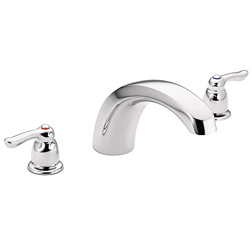 Moen T990 Chateau Two-Handle Low Arc Roman Tub Faucet Valve Required, Chrome