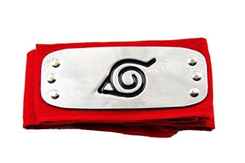 Touirch Anime Konoha Village Ninja Shinobi Naruto Cosplay Stirnband verschiedene Stile, 4 Stück.
