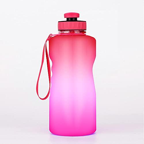 FGJFG Boquilla Para Beber Fácilmente-Resistente a Manchas y Olores/Caldera deportiva de degradado de colores-rosa Red_2.1L-3L/Libre de BPA, ftalatos, PVC, plomo o cadmio