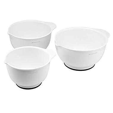 KitchenAid Classic Bowls, Mixing, White, Set of 3