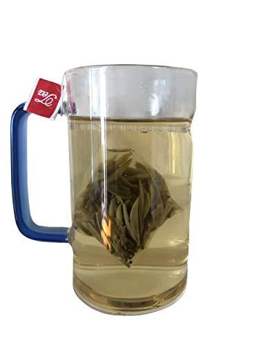 Bacilio 福鼎白毫銀針 トップクラス 白茶 有機白茶 ホワイトティー 福建省福鼎産 ベタークラス 白茶芽 (強力な抗酸化物質が豊富) 三角カバン ティーバッグ 原産地出荷する (福鼎白毫銀針, 约75g(3g*25袋))