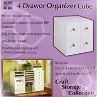 Jetmax White 4 Drawer Organizer CubeNew by: CC