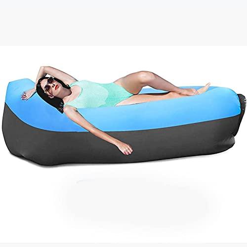 Homclo Aufblasbares Sofa Liege, Wasserdichtes Luft Sofa Couch, tragbares aufblasbares Sofa, aufblasbares Outdoor-Sofa Fuer Camping, Schwimmbad (Blau)