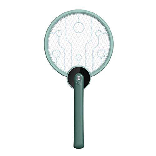 XVBABY Scacciamosche Elettrico 2 in 1 Elettrico Mosquito Swatter Pieghevole Portatile da Campeggio all'aperto Controllo degli Insetti Volare casa Camera da Letto Silenzioso Cordless Killer l Green