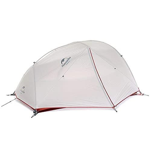 Naturehike(ネイチャーハイク) 2人用 テント Star River 2 アップグレードアウトドア 二重層 超軽量 4シーズン 防風 防水 キャンピング 専用グランドシート/収納袋付 (灰色、20D)