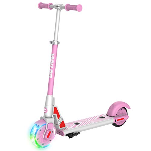 Gotrax GKS LUMIOS Electric Scooter Kick Scooter for Kids Teens (Pink), Small