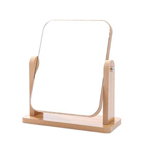 RONG MIRROR Dressing Spiegel Waschtisch Spiegel, MDF-Schönheits-Spiegel HD 360 ° Rotation für...