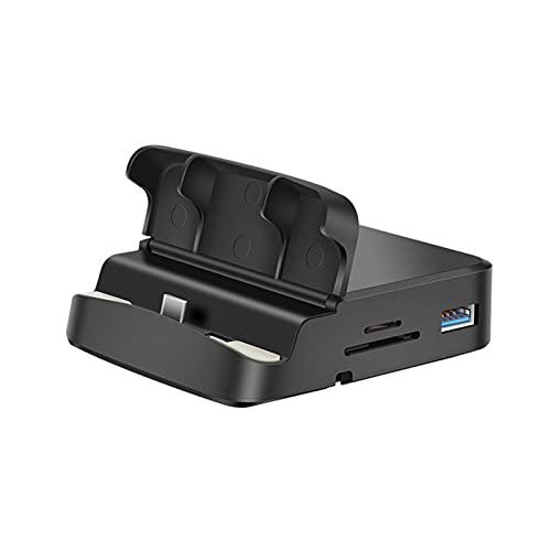 VVEMERK Cargador inalámbrico para coche, estación de carga inductiva USB, estación de carga para teléfono móvil Samsung, estación de carga para teléfono móvil con base USB C