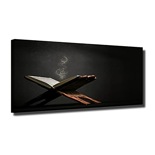 Libro di arte della parete della tela di canapa pittura sulla parete libro foto poster della tela di canapa pittura soggiorno casa decorazione di arte murale 60x120 cm Senza cornice