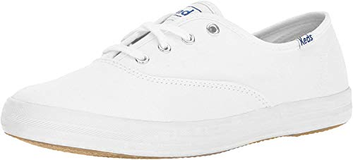 Keds Women's Champion Original Leather Lace-Up Sneaker, White Leather, 7.5 S US