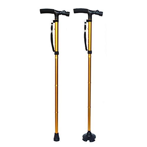 N / A Caminar Simple Altura de la Varilla Plegable Ajustable aleación...