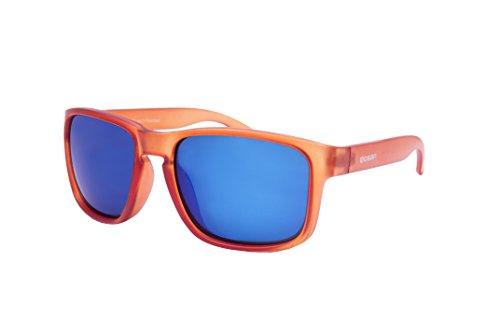 Ocean Sunglasses - Blue Moon - lunettes de soleil - Monture : Orange Glacé - Verres : Revo Bleu (19202.47)
